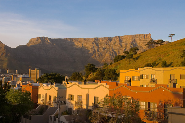 Table Mountain in Cape Town seen from our rooftop deck